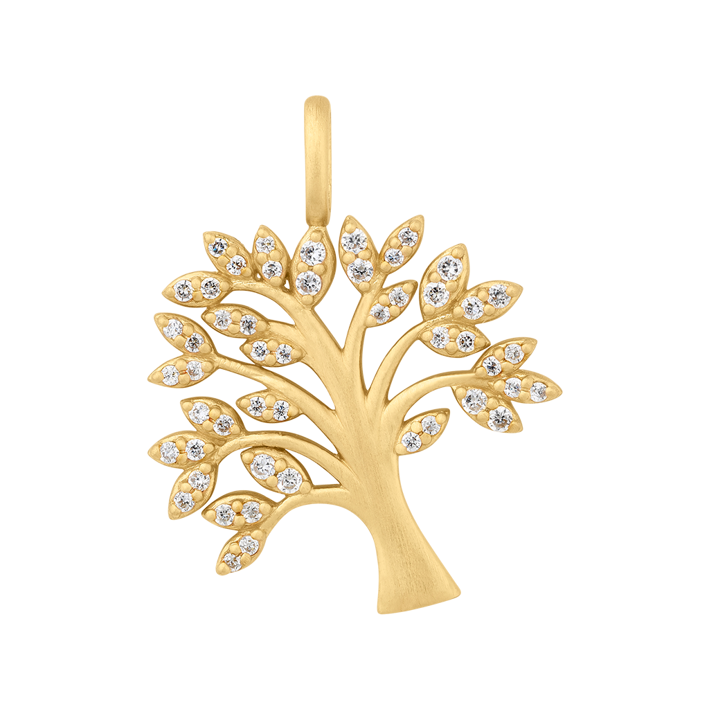 Tree of Life sparkle pendant - gold