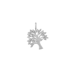 Tree of Life sparkle pendant - silver