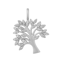 Load image into Gallery viewer, Tree of Life sparkle pendant - silver