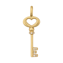 Load image into Gallery viewer, Unlock Love pendant - gold