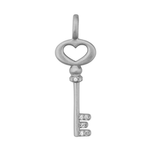 Load image into Gallery viewer, Unlock Love pendant - silver