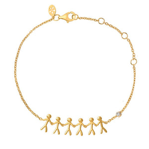 Fine - Family 6 bracelet - solid gold