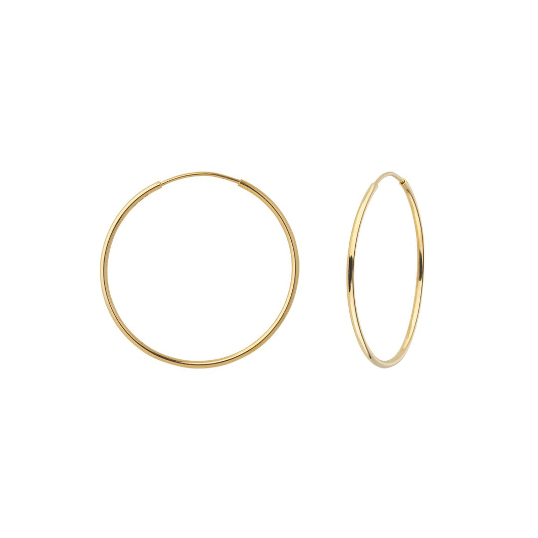 Fine hoops large - solid guld