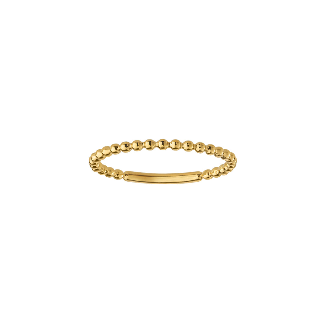 Fine bobble ring- solid gold