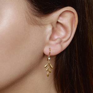 Forest earring - silver