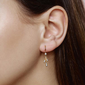 Forest sparkle small earring