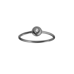 Iris diamant ring - black with diamond