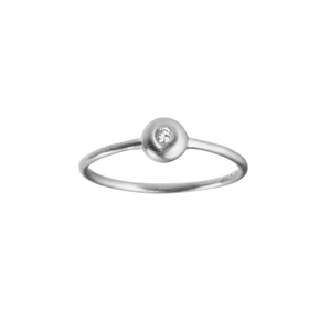 Iris diamant ring - silver with diamond