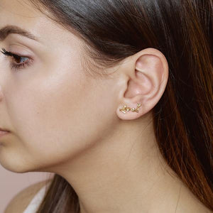 Jungle Ivy sparkle earring - gold