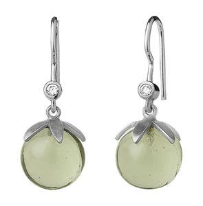 Magic earring- green silver