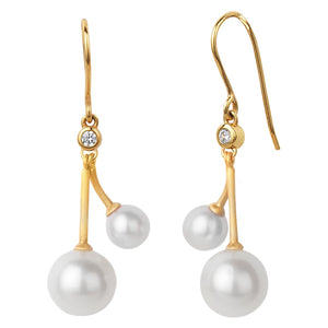 Coco Cherry Earrings - Gold