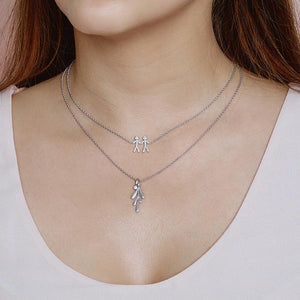 Together You & Me necklace - silver