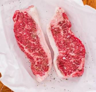 Perry Land & Cattle Boneless New York Strip Steak (2 pack, 11-13 oz each) Beef Perry Land & Cattle