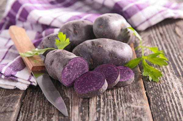 Purple Potatoes Potatoes Crooked Sky Farms