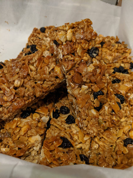 Granola bars w/ protein powder (8 bars)