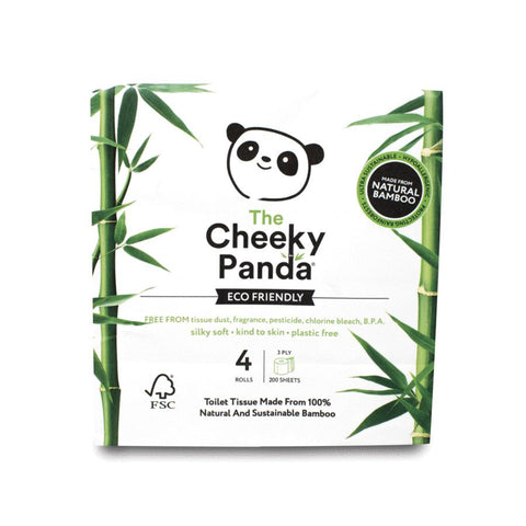 cheeky panda bamboo toilet tissue 4 pack product image
