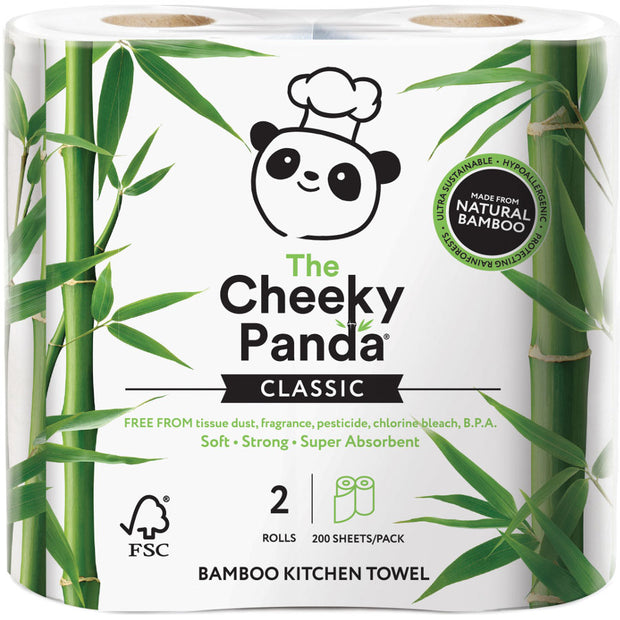 Cheeky Panda 100% Bamboo Kitchen Towel - 2 rolls