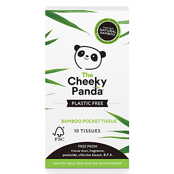 Cheeky Panda Plastic Free 100% Bamboo Pocket Tissues - 10 pack
