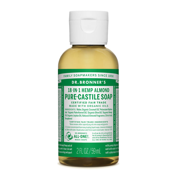 Dr. Bronner's 18-in-1 Almond Pure Castile Liquid Soap