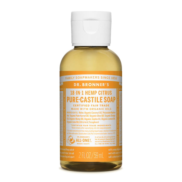 Dr. Bronner's 18-in-1 Citrus Pure Castile Liquid Soap