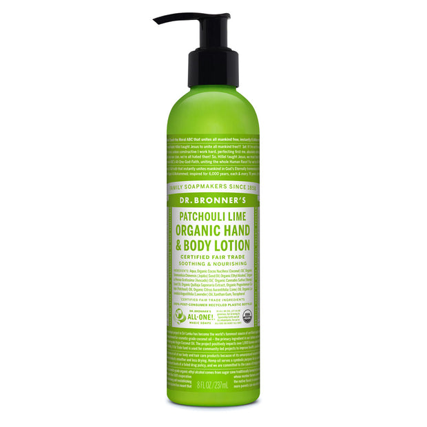 Dr. Bronner's Patchouli Lime Organic Body Lotion 237ml