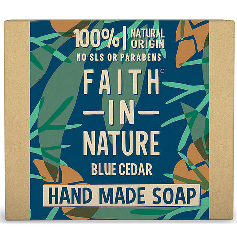 Faith in Nature Blue Cedar For Men Soap Bar 100g