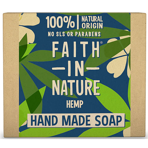 Faith in Nature Hemp & Green Tea Soap Bar 100g