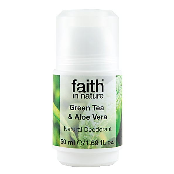 Faith in Nature Green Tea & Aloe Vera Roll On Deodorant - 50ml