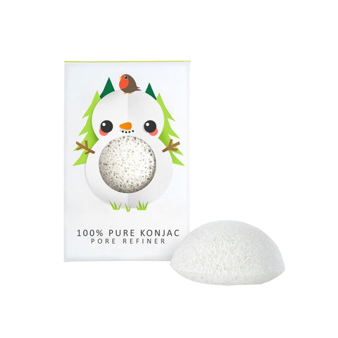 The Konjac Co. 100% Konjac Mini Pore Refiner – Snowman