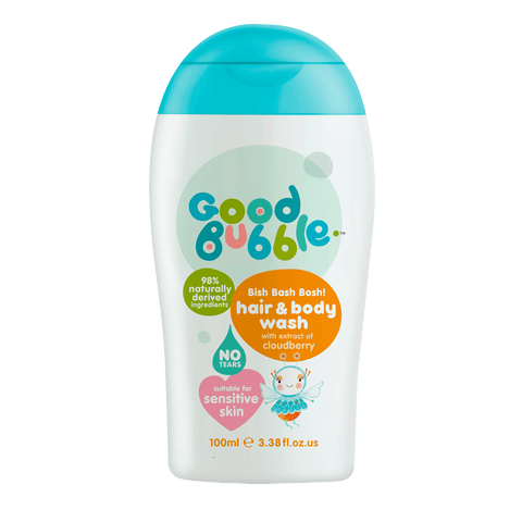 Good Bubble Hair & Body Wash with Cloudberry Fruit Extract 100ml Travel Size