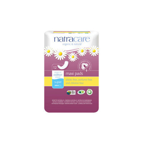 Natracare Pads Super - 12s