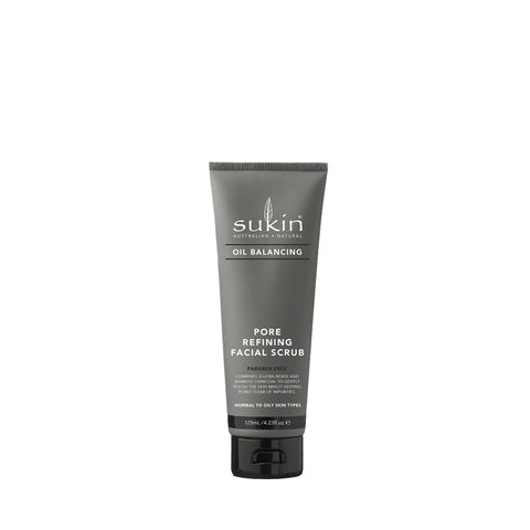 Sukin Oil Balancing + Charcoal Pore Refining Facial Scrub - 125ml