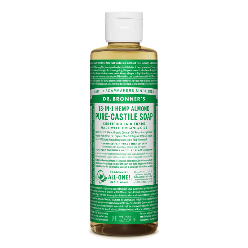 Dr. Bronner's 18-in-1 Almond Pure Castile Liquid Soap  236ml