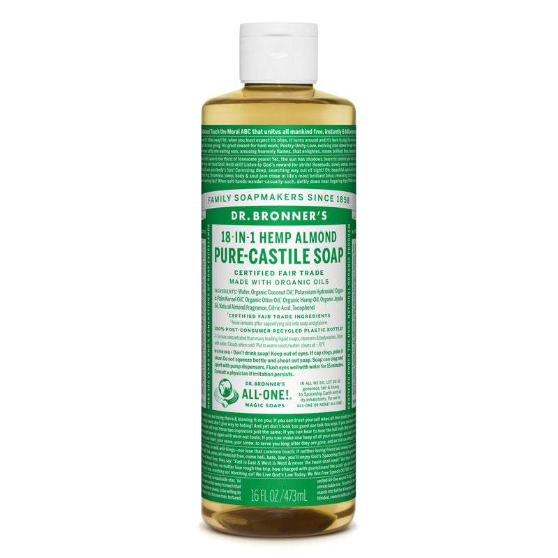 Dr. Bronner's 18-in-1 Almond Pure Castile Liquid Soap  472ml