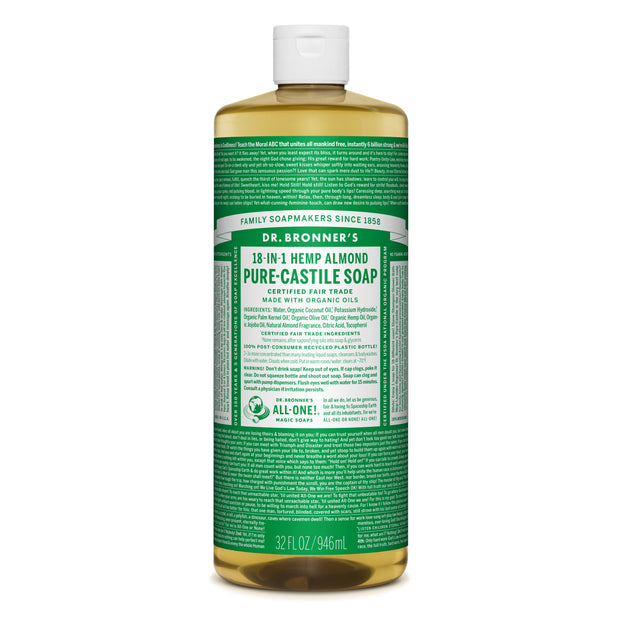 Dr. Bronner's 18-in-1 Almond Pure Castile Liquid Soap  946ml