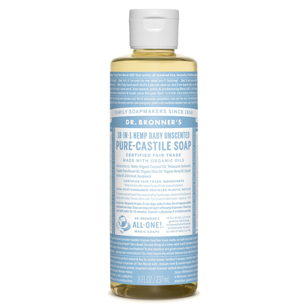 Dr. Bronner's 18-in-1 Baby Mild Pure Castile Liquid Soap  236ml