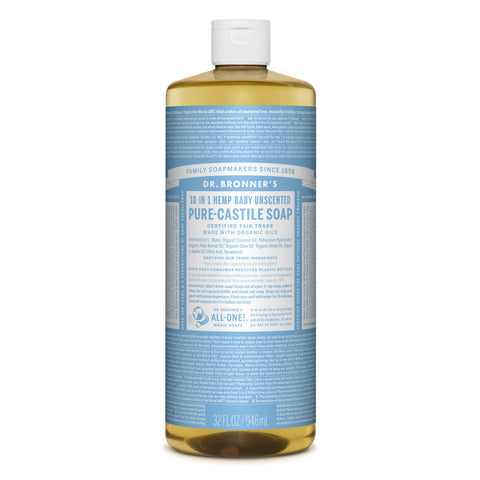 Dr. Bronner's 18-in-1 Baby Mild Pure Castile Liquid Soap  946ml