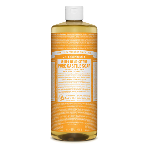 Dr. Bronner's 18-in-1 Citrus Pure Castile Liquid Soap 946ml