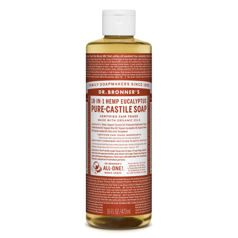 Dr. Bronner's 18-in-1 Eucalyptus Pure Castile Liquid Soap