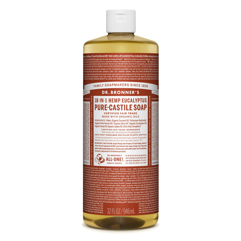 Dr. Bronner's 18-in-1 Eucalyptus Pure Castile Liquid Soap  946ml