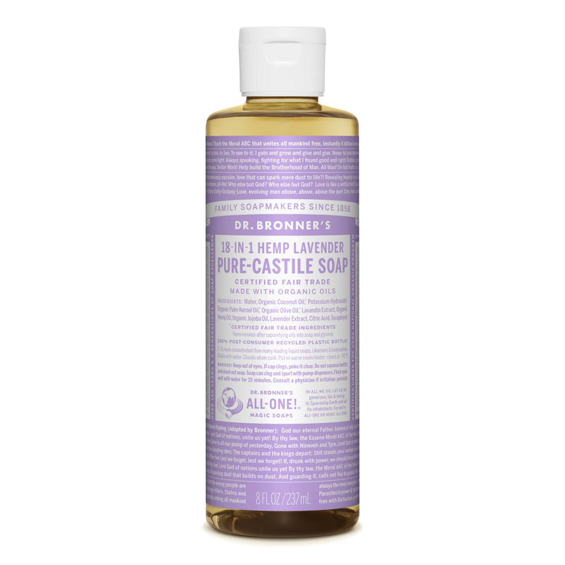 Dr. Bronner's 18-in-1 Lavender Pure Castile Liquid Soap  236ml