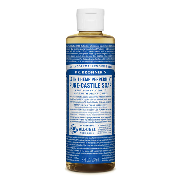 Dr. Bronner's 18-in-1 Peppermint Pure Castile Liquid Soap  236ml