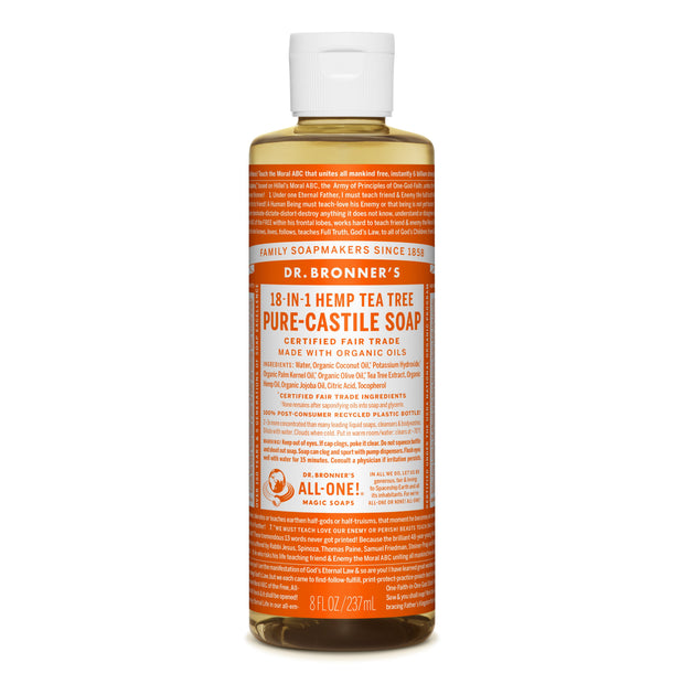 Dr. Bronner's 18-in-1 Tea Tree Pure Castile Liquid Soap  236ml