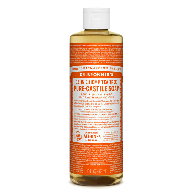 Dr. Bronner's 18-in-1 Tea Tree Pure Castile Liquid Soap  472ml