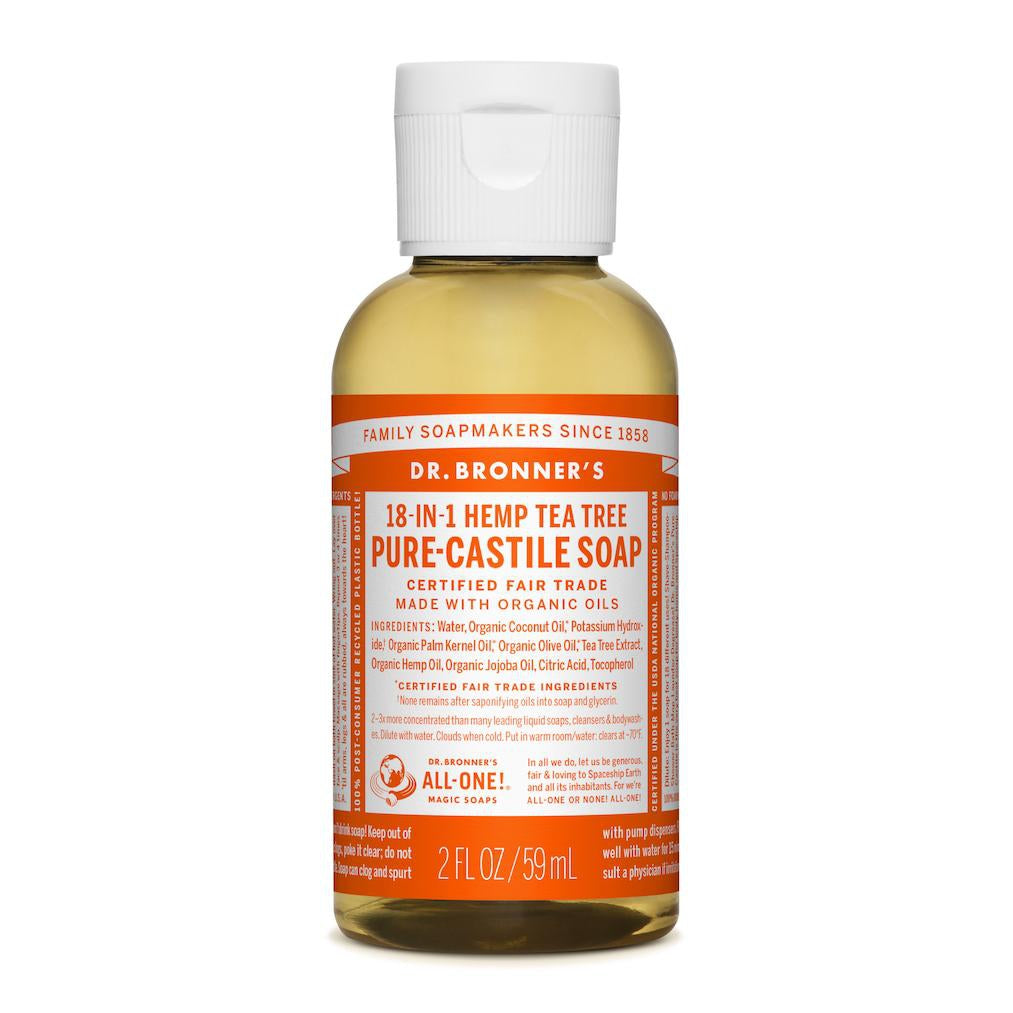 Dr. Bronner's 18-in-1 Tea Tree Pure Castile Liquid Soap - 59ml
