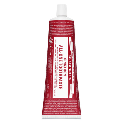 Dr. Bronner's All-One Organic Cinnamon Toothpaste 140g