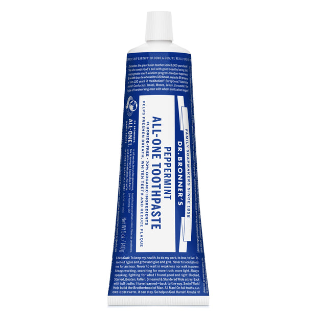 Dr. Bronner's All-One Organic Peppermint Toothpaste 140g
