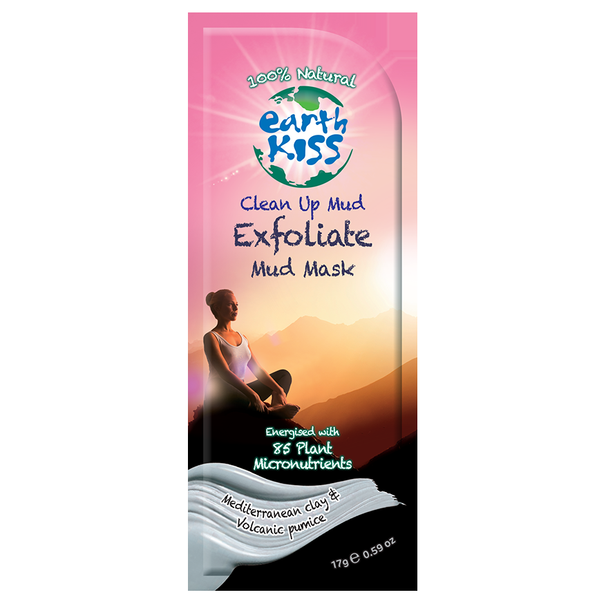 Earth Kiss Exfoliate Clean Up Mud Mask 17g
