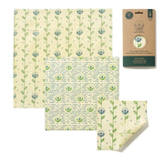The Food Wrap Co. Vegan Wax Wraps – Harvest Print - 3 pack