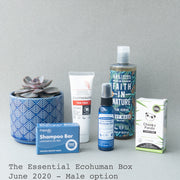 The Essential Ecohuman Monthly Subscription Box. Always vegan and cruelty free. June 2020 past box